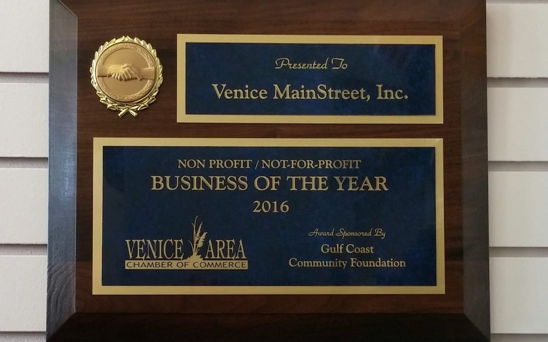 Venice MainStreet Receives Business of The Year: Nonprofit