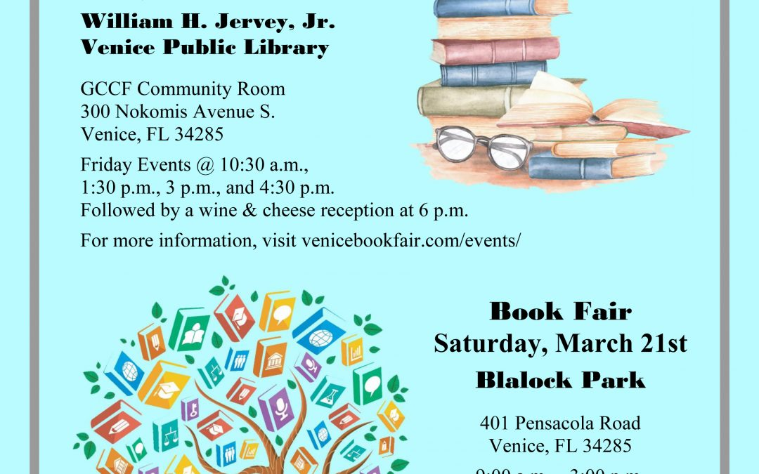 A Book Lover's Event:  Venice Book Fair and Writers Festival